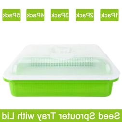 1/2/3//4/5Pack Seed Sprouter Tray Container Wheatgrass Growe