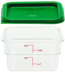 Cambro 1 2SFSCW135 2 Qt. Clear Container with SFC2452 Kelly