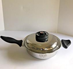 1.7 Qt. Skillet With Lid Stainless Steel Ultra Tech II Water