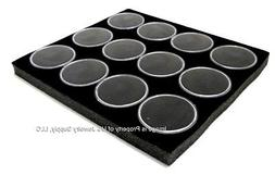 1 Black 12 Jar with Lid Liner insert Use for Gems Coins Body