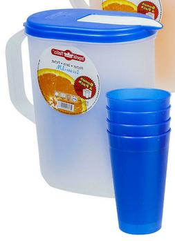 Imperial 1 Gallon  Plastics Pitcher with 4 Tumblers With  Li