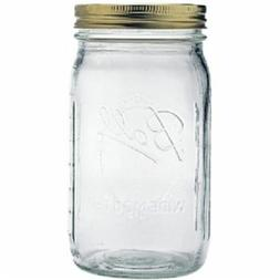 1 Ball Mason Jar Wide Mouth 32 oz.  with Lid and Band - Clea