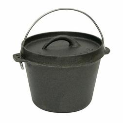 1 Quart Cast Iron Dutch Oven with Lid for Oven Open Fire Out