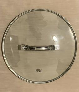"""10""""Frying Pan Lid Tempered Glass with steam release  MEASURE"""