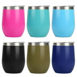 12 OZ Stainless Steel Tumbler with Lid Double Wall Vacuum In