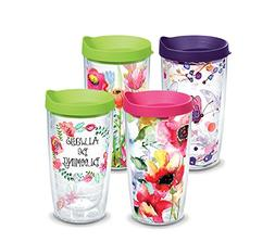Tervis 1224488 Floral Watercolor Tumbler with Wrap and Assor