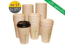 12OZ Disposables Hot  Paper Coffee 100% Bamboo Fiber Cups-Wi