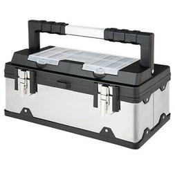 18 Tool Box Stainless Steel and Plastic Portable Organizer w