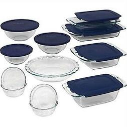 Pyrex 19-Piece Non-Porous Ergonomic Glass Cookware Bakeware