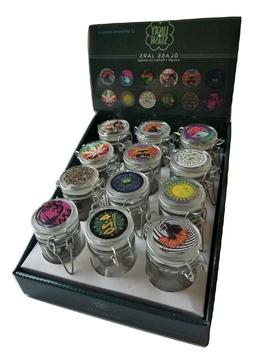 2.4 oz Small Glass Jars With Air-Tight Lids, Glass Herb Spic