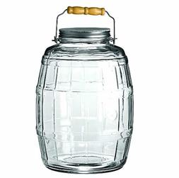 Anchor Hocking 2.5-Gallon Glass Barrel Jar with Brushed Alum