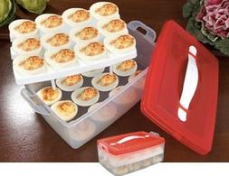 2 TIER SNAP N STACK DEVILED EGG CARRIER  by BW Brands