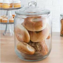 2 Gallon Glass Wide Jar with Lid Clear Container Storing Dry