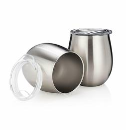 2 Pack - GetTem Wine Tumbler  – Stainless-Steel Stemless T