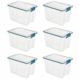 Sterilite 20 Quart Gasket Box with Clear Base and Lid  | 193