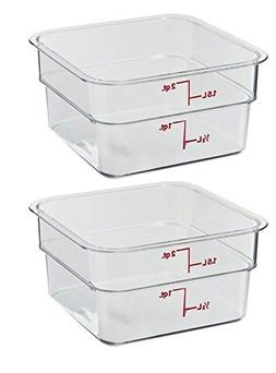 Cambro 2SFSCW135 CamSquare Food Storage Containers, Set of 2