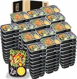 120 Piece Meal Prep Containers  3 Compartment with Lid Utopi