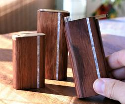 """4"""" Honduras Wood Dugout with One Hitter- Slider Lid- Perfect"""