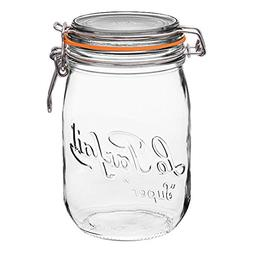 4 Le Parfait Super Jars - Wide Mouth French Glass Preserving
