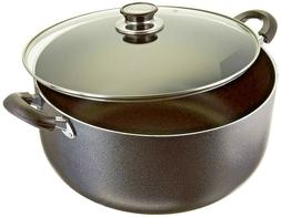 Uniware 4018-16G Non-Stick Aluminum Sauce/Stock Pot With Gla