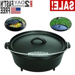 Ozark Trail 5-Quart Cast Iron Camping Dutch Oven with Handle