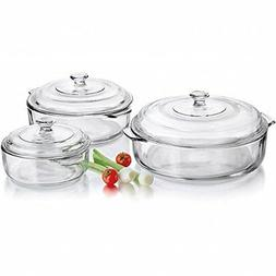 Libbey 56030 6 Piece Glass Casserole Set