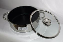 6.5 qt. New in Box High Casserole Pot With Lid Stainless Ste