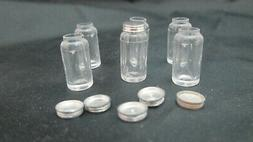 6 Dollhouse Miniature 1/12th Scale Large Canning Jar with Li