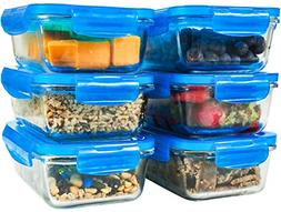 6 pack 28oz glass meal prep containers