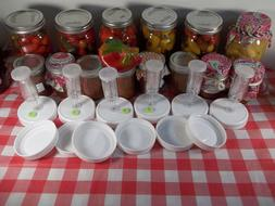 6 pack Mason jar fermenting lids with GASKETS, grommets & ai