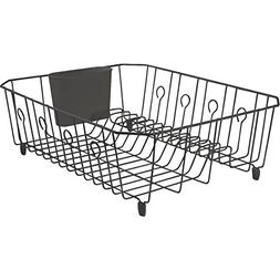 Rubbermaid Home 6032-AR-BLA Large Dish Drainer-BLACK DISH DR