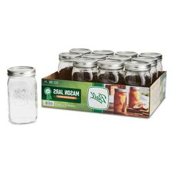 Ball 62000 Glass Mason Jars 32 Oz Wide Mouth with Lids and B