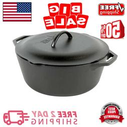Lodge 7 Qt. Cast Iron Dutch Oven with Lid