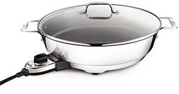 New ALL-CLAD  7 QT  D5 Polished Stainless Electric Frypan No