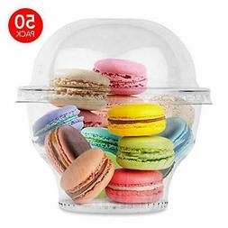 Stock Your Home 8 oz Clear Plastic Dessert Cups With Dome Li