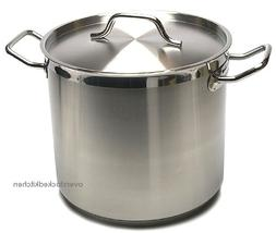 80 QT STAINLESS STEEL  STOCK POT W/ LID