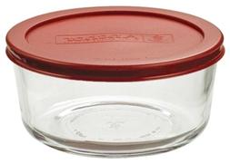 Anchor Hocking 91548L11 4 Cup Round Kitchen Storage With Red