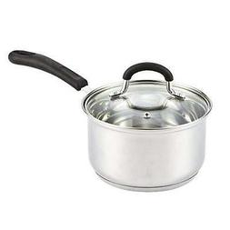 Cook N Home 02416 Lid, Silicone Handle 2-Quart Stainless Ste