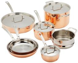 Cuisinart CTP-11AM Copper Tri-Ply Stainless Steel 11-Piece C