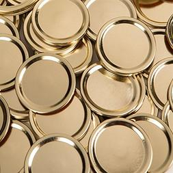Generic  WIDE GOLD Mouth Size Mason Jar Canning Lids, 48 lid