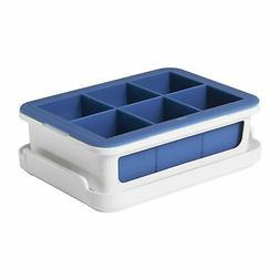 OXO Good Grips Silicone Stackable Ice Cube Tray with Lid - L