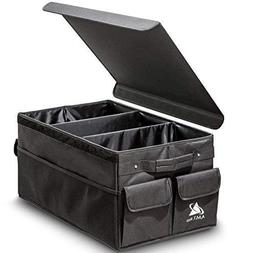 Premium Foldable Car Trunk Organizer with Lid Cover by AMT P