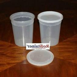 Reditainer Deli Food Storage Containers with Lid, 32-Ounce,