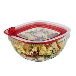 Rubbermaid Easy Find Lids Glass Food Storage Container, 8 Cu