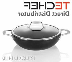 TECHEF - Onyx Collection, 12-Inch Nonstick Wok / Stir-Fry Pa