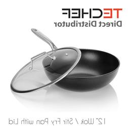 """TECHEF - Onyx Collection, 12"""" Wok / Stir-Fry Pan with Lid"""