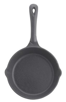Winco RSK-6 Cast Iron Skillet, 6-1/2-Inch