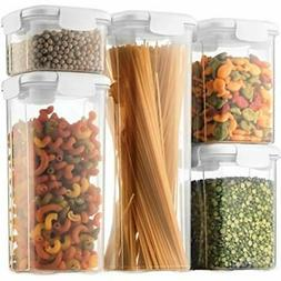 Airtight Food Storage Containers With Lids 5Piece BPAFree Pl