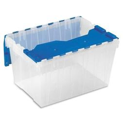 Keep Box Container with Hinged Lid Storage Bin Organizer