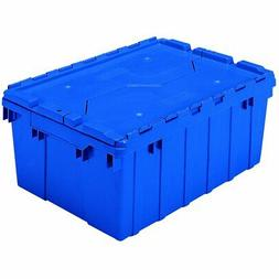 AKROMILS 39085BLUE Attached Lid Container, 1.12 cu ft, Blue